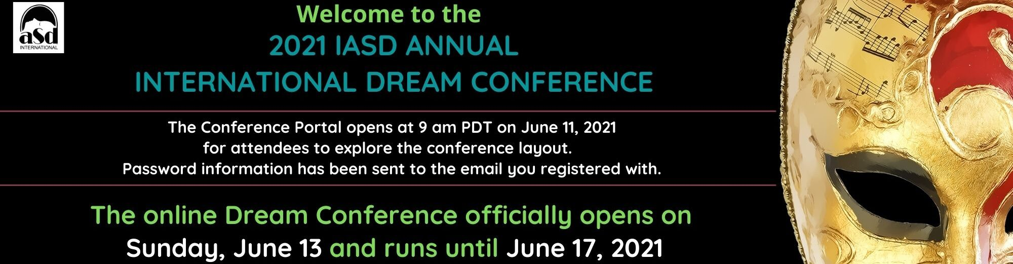 Welcome to the 2021 Virtual Dream Conference